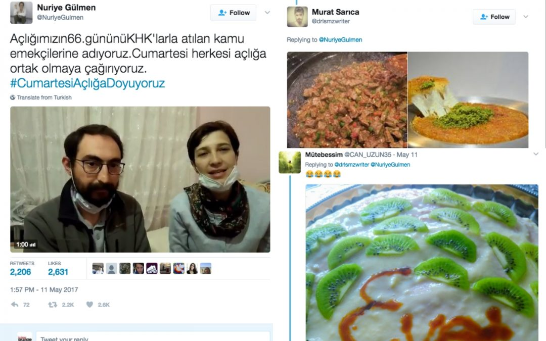 Educators on hunger strike harassed with food pics by Erdoğan fanatics