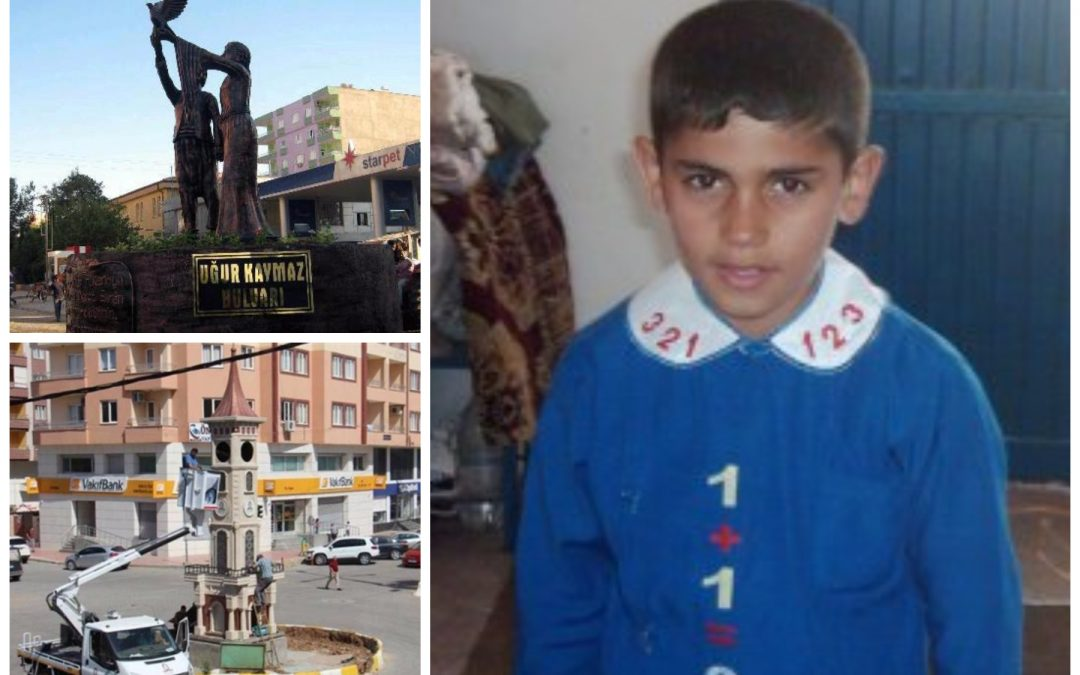 Gov't trustee replaces statue of slain Kurdish boy with clock tower