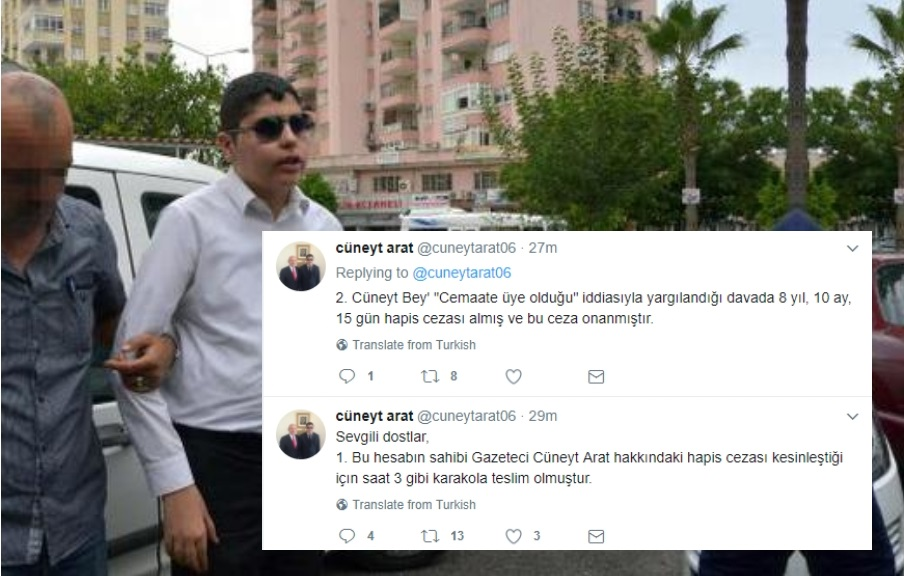 [BREAKING] Visually impaired journalist sent to prison over Gülen links