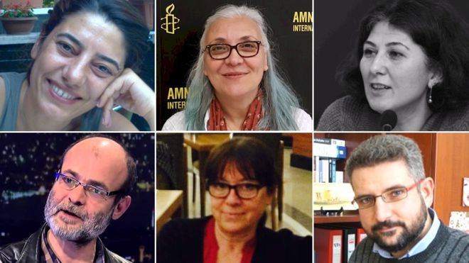 BBC: Detained human rights advocates taken to different police stations in İstanbul
