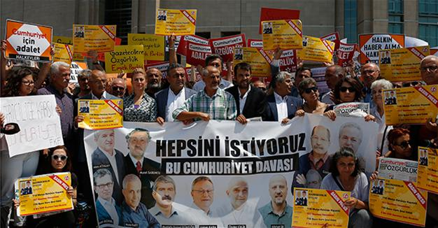 Cumhuriyet trial: Court releases 7 journalists, executives, 5 to remain under arrest