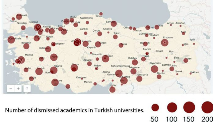 Report: At least 23,427 academics affected by post-coup emergency rule in Turkey