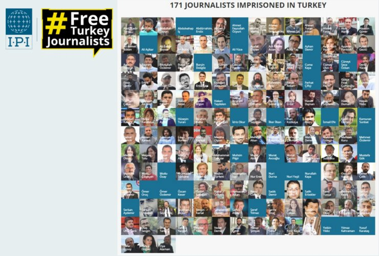 International Press Institute says 171 journalists currently behind bars in Turkey