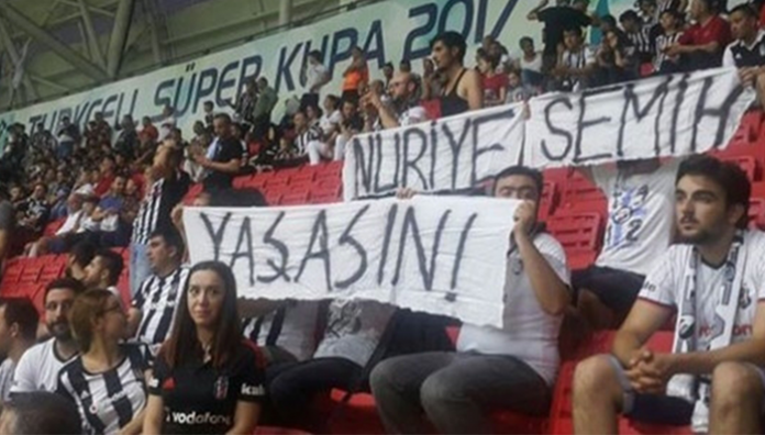 Turkey jails 10 Beşiktaş fans over banners supporting jailed hunger strikers