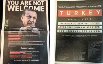 US rights group publishes three-page ad telling Erdoğan 'You are not welcome'