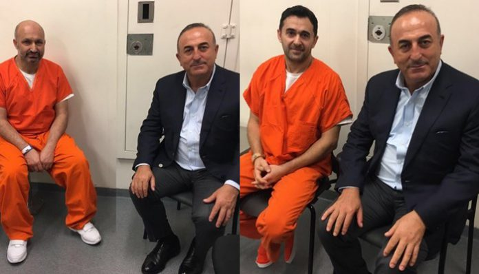Turkish FM visits Turks jailed over attack on protesters in DC