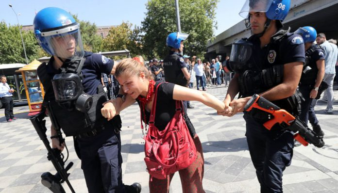At least 20 detained in protests supporting hunger striker teachers
