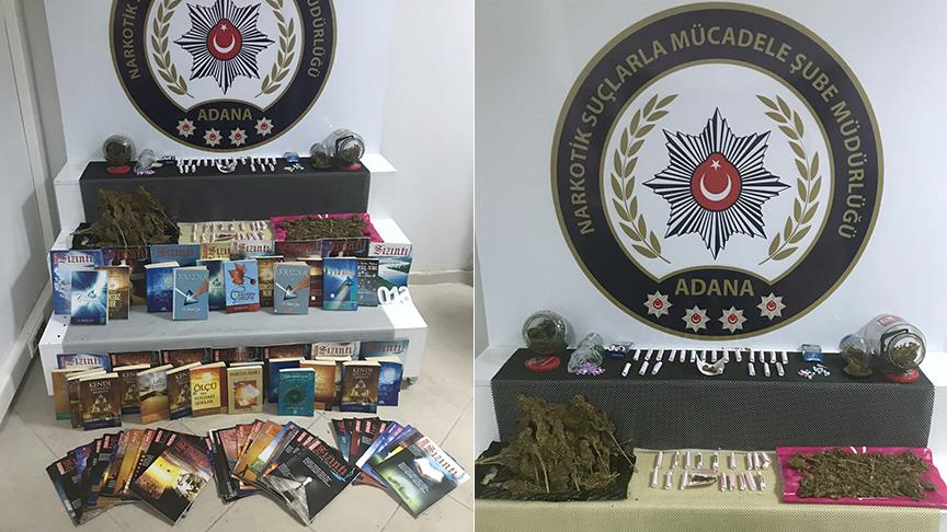 Adana police seize books, magazines during anti-drugs operation
