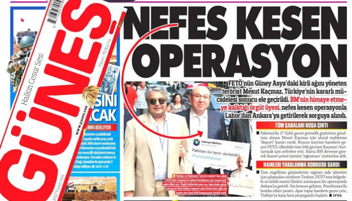 Pro-gov't daily says Kaçmaz family brought back to Turkey despite UN protection