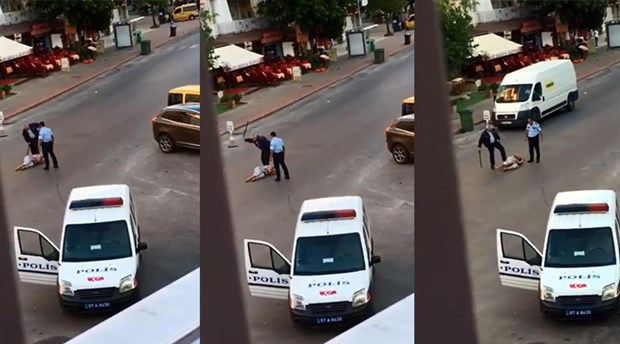 [VIDEO] Police officers repeatedly beat Antalya woman with baton while she is pinned to floor