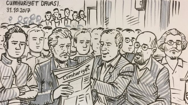 Cumhuriyet daily journalists to remain in jail following Tuesday hearing