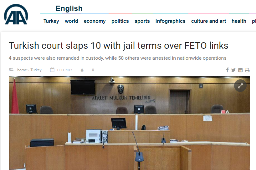 Turkish courts now 'slap' people on coup charges, reports state-run news ageny