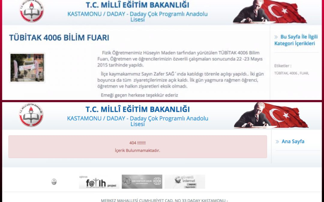 Turkey's 'Ministry of Truth' in action: Drowned teacher's accomplishment record removed