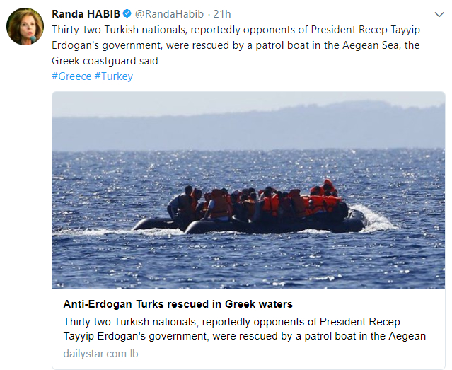 32 Turks rescued in Aegean Sea, reportedly seeking asylum in Greece