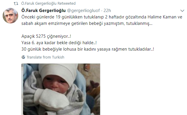 Mother with 25-day-old baby allegedly jailed on coup charges in İstanbul