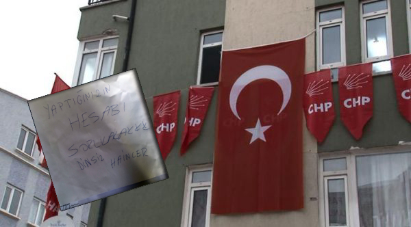 Mysterious note left at CHP office's door threatens: You'll pay for it, traitors!