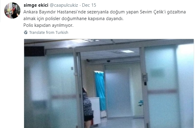 Ankara woman detained on coup charges hours after giving birth — claim