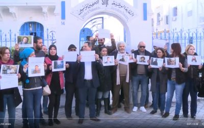 Tunisian journalists protest in support of Turkish colleagues in jail