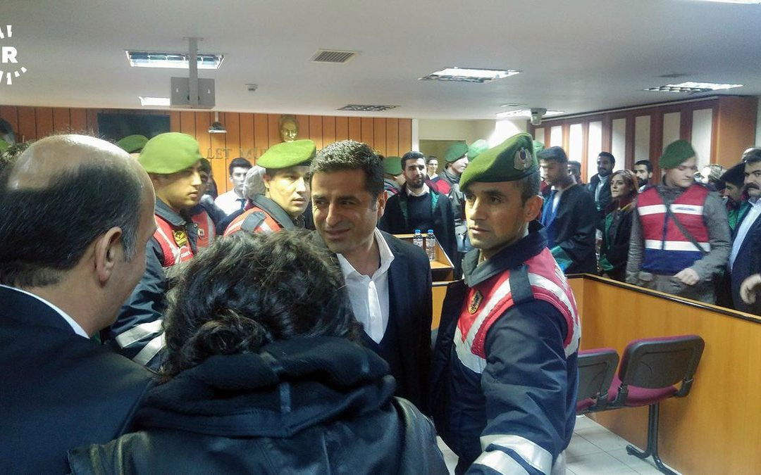 Imprisoned Kurdish leader Demirtaş makes first appearance in court in 14 months