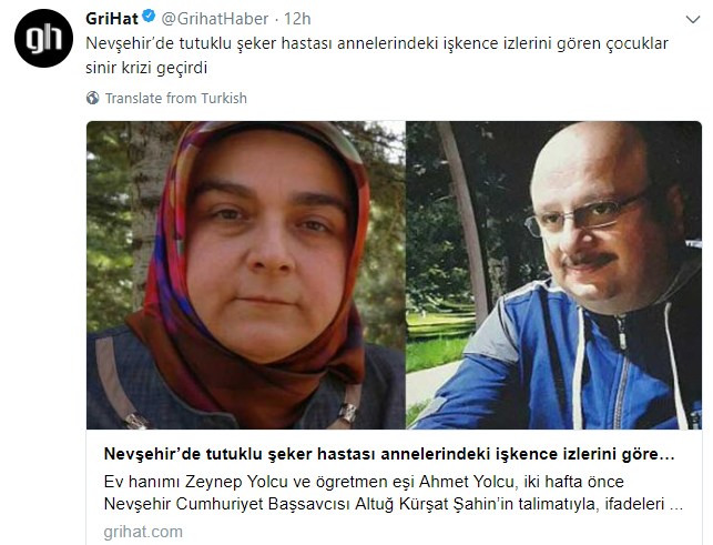 'Gülenist' couple 'battered and tortured' in Nevşehir prison — claim