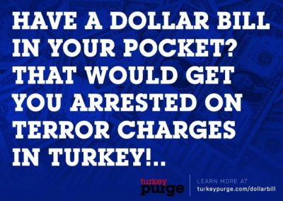 Turkey Purge Post Card -- Front Side