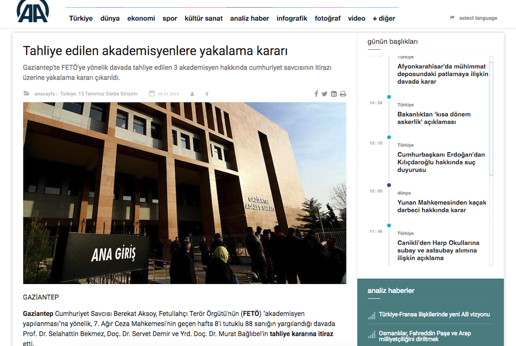 Arrest warrants issued for 3 academics released only 4 days ago