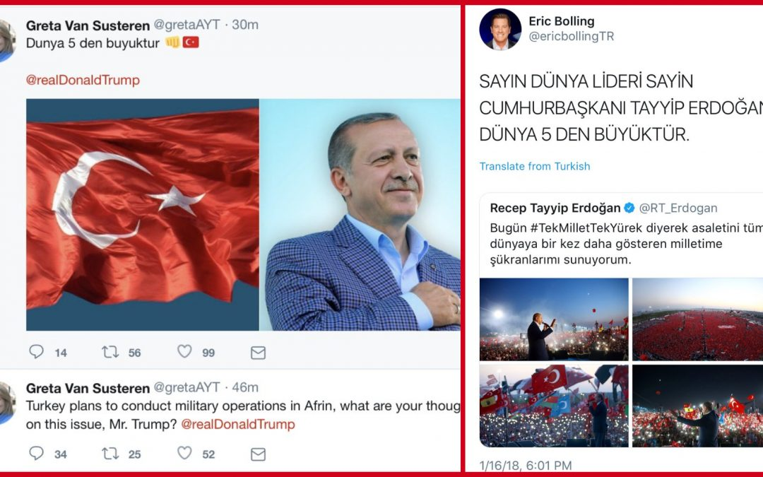 Pro-Erdogan group hacks Twitter accounts of US TV hosts Greta Van Susteren and Eric Bolling