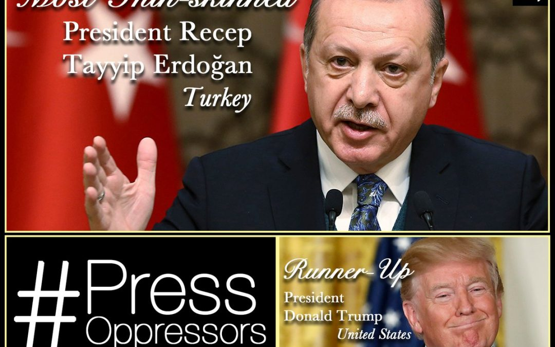 Erdogan wins CPJ's press oppressor awards in several categories