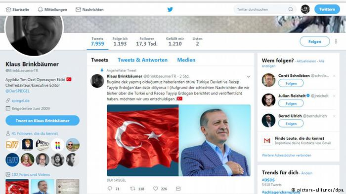 Pro-Erdogan hackers take over Der Spiegel editor's Twitter account