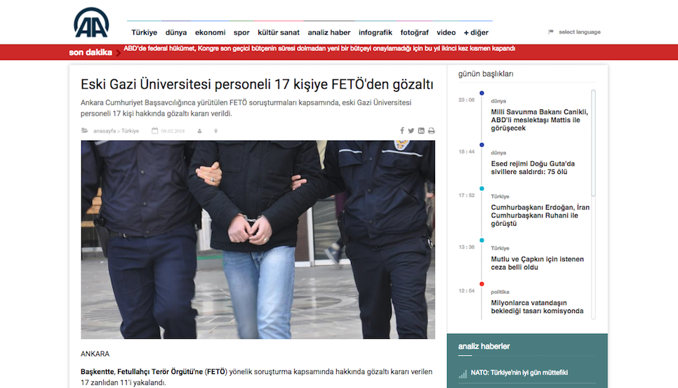 Warrants issued for 17 former Gazi University staffers: 11 detained