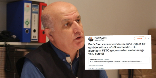 Pro-gov't journalist says jailed Gulenists should be forced to commit suicide