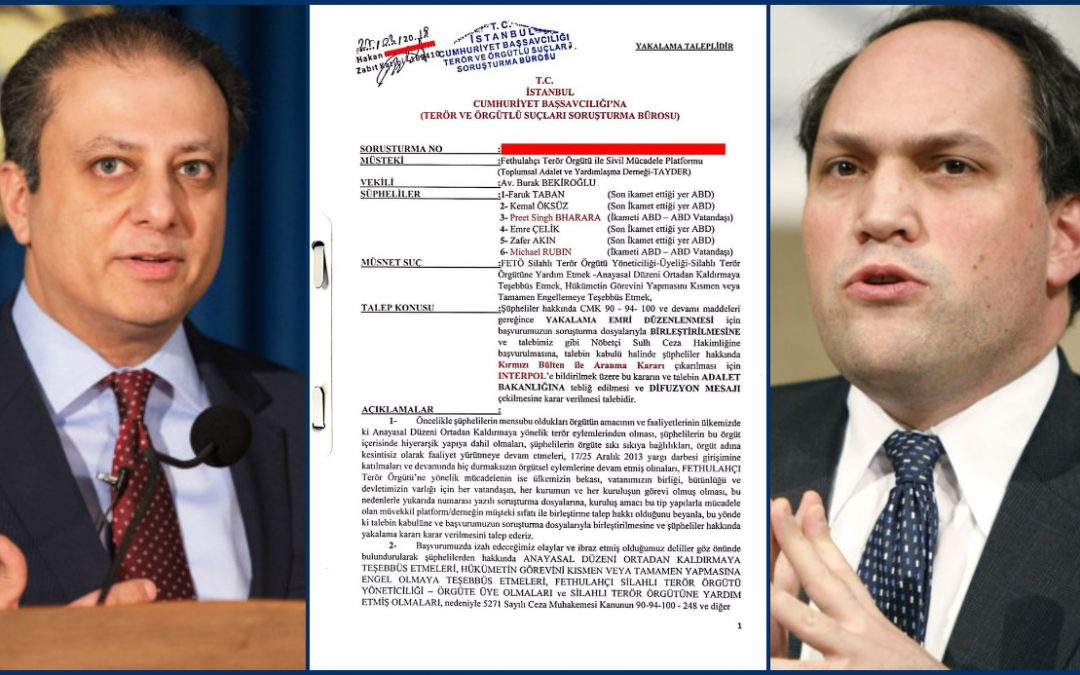 Turkish lawyer seeks Interpol red notices for Preet Bharara, Michael Rubin