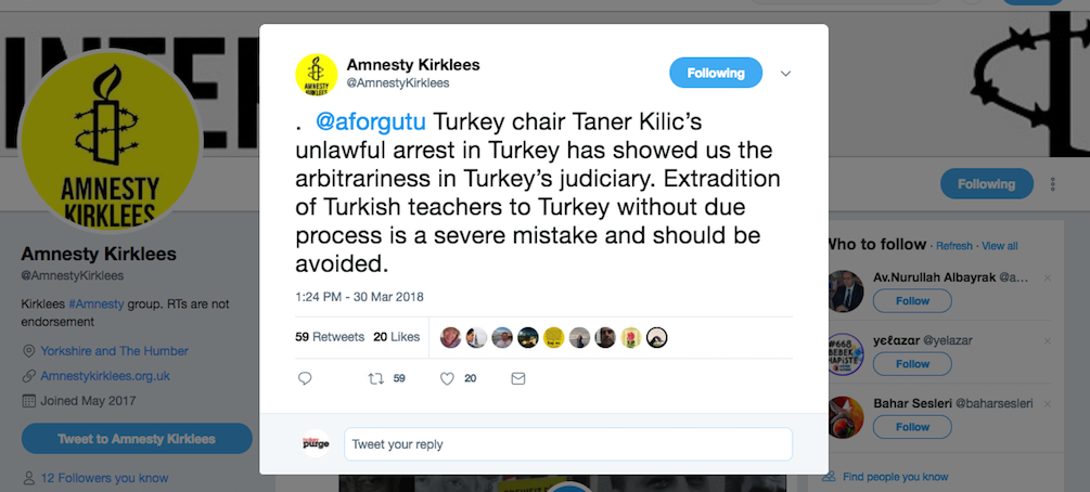 Local Amnesty office asks Kosovo to avoid extradition of Turkish teachers