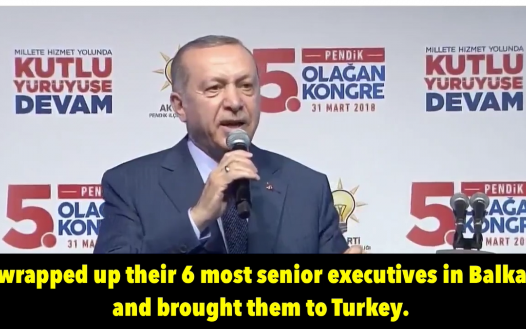 [VIDEO] Erdogan: Turkish spies packed up Kosovo teachers, brought them to Turkey