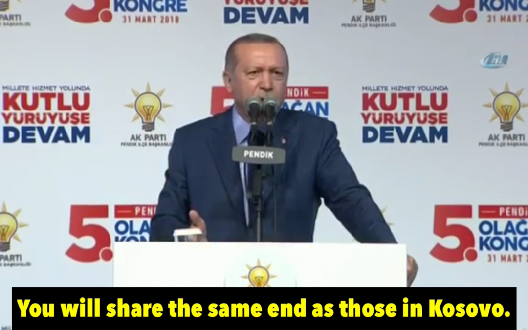 [VIDEO] Erdoğan implies Gülen will be abducted from Pennsylvania just like 6 Turks in Kosovo