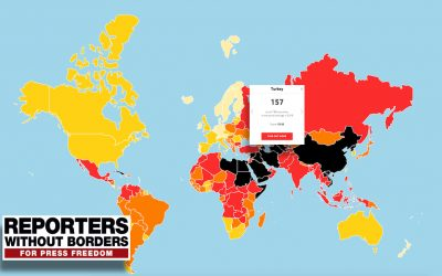 Turkey drops 2 spots to rank 157th out of 180 countries in 2018 World Press Freedom Index by RSF