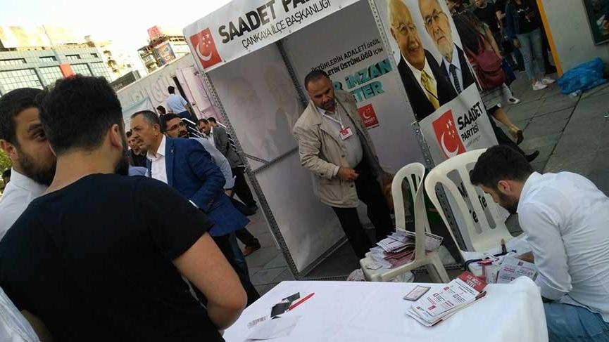 Opposition Felicity Party's stall attacked during election campaign in Ankara