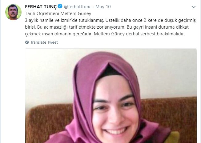 3-month pregnant history teacher put in pre-trial detention on coup charges in İzmir — claim