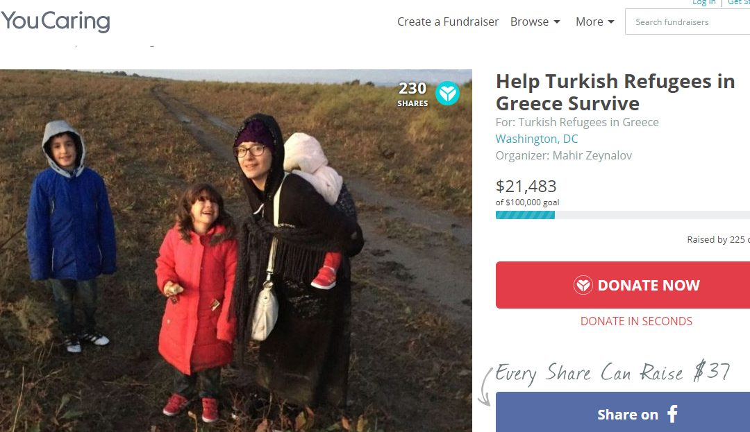 Campaign seeks donations for purge-victim Turkish refugees in Greece