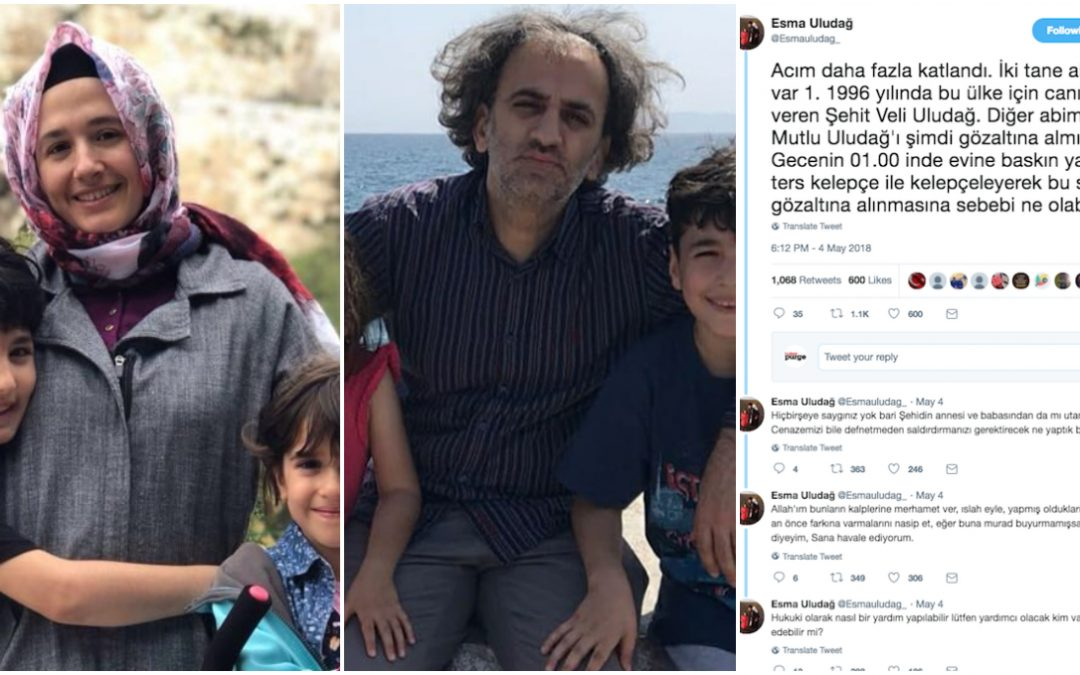 Wife died in exile in Greece, brother detained in midnight raid in Turkey