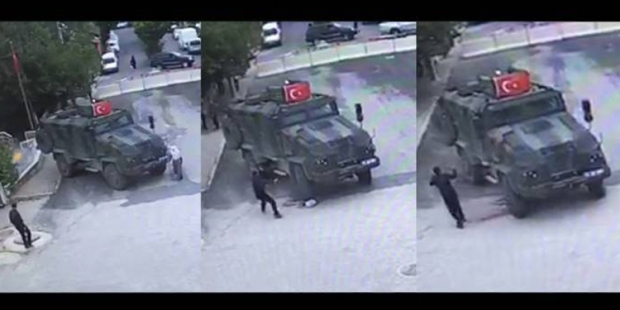 WATCH: Moment elderly woman crushed to death by military vehicle in Diyarbakır