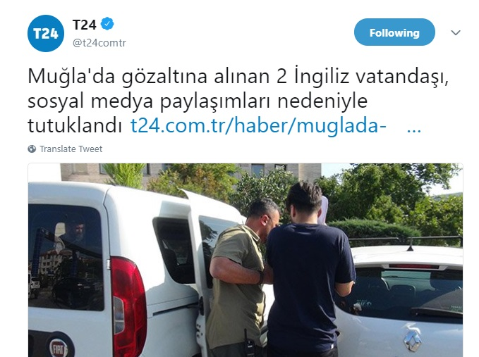 2 British citizens put in pre-trial detention in Muğla on terror charges: report