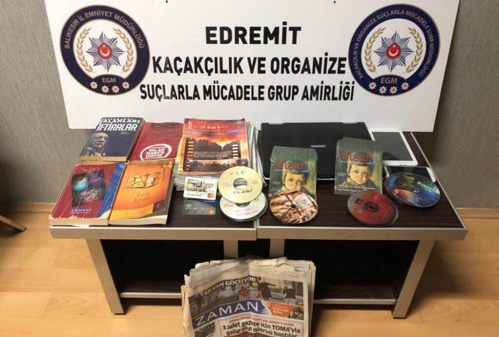 Books, magazines seized as evidence for organized crime