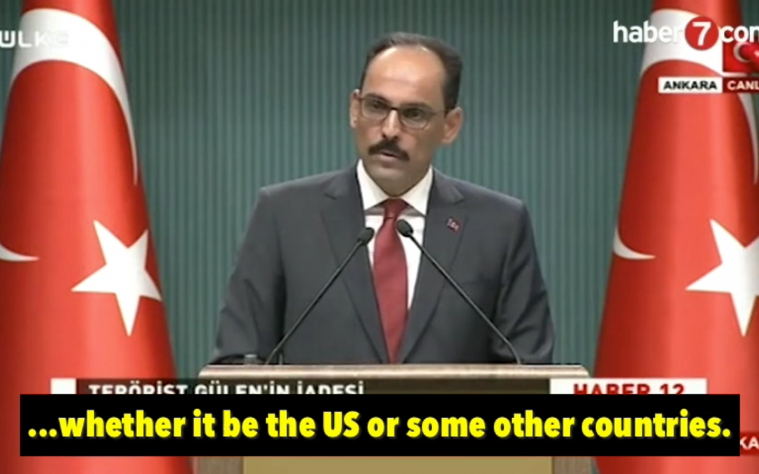 [VIDEO] Turkey says may attempt to abduct Gulenists in the US, elsewhere