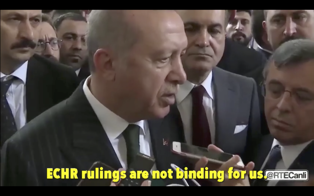 [VIDEO] Erdogan says ECHR decision not binding for Turkey