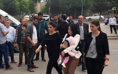 Turkish teacher with 9-month-old baby sent back to prison for 'praising terrorism' during live talk show