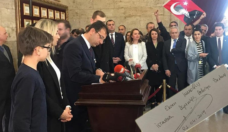 "Investigation launched against newly elected İstanbul mayor Ekrem İmamoğlu over ""an undue assumption of authority"" 