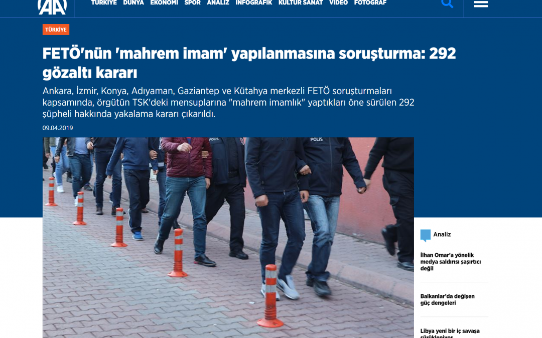 Detention warrants issued for 292 people over Gulen links
