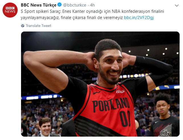 Turkish TV won't broadcast Blazers Games due to Erdogan-critic Enes Kanter