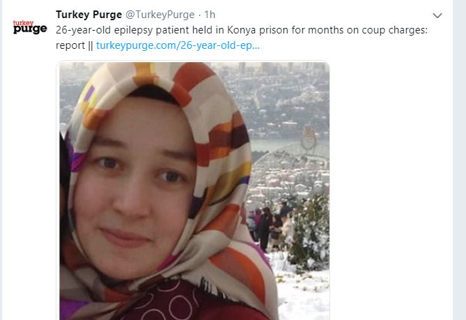 26-year-old epilepsy patient held in Konya prison for months on coup charges: report